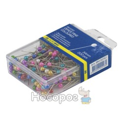 Булавки Buromax цветные, пласт. контейнер 5250