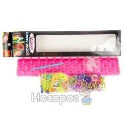 Набор для плетения браслетов оранжевый Clolor loom bands