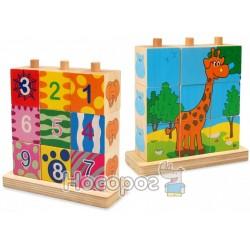 Деревянные кубики Baby mix 52043