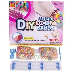 Набір для плетіння браслетів помаранчевий Clolor loom bands