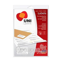 Этикетки самоклеющиеся Uni Labels (830211)