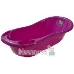 """Maltex. 3554. Ванночка """"Hello kitty"""" 100 см з пробкою і нековз килим- рожевий"""