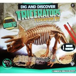 """Набор археолога """"Раскопай динозавра"""" Triceratops №399-G"""