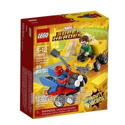Конструктор LEGO Mighty Micros Пурпурный Паук против Песчаного человека 76089