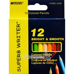 Карандаши цветные Marco 4100H-12CB 12 цветов (короткие)