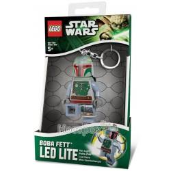 """Лего брелок-ліхтарик """"Boba Fett"""" з батарейкою LGL-KE19-BELL"""