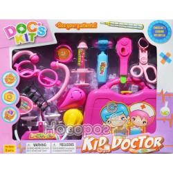 Доктор 3A-950A (36шт/2) стетоскоп,шприц,градусник,щипцы,весы,чемодан в кор.40*33*5,5см