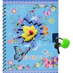 Блокнот Маленькі метелики 7656 на замку