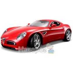 Автомодель - ALFA 8C COMPETIZIONE (2007) (красный металлик, 1:32) Bburago 18-43004