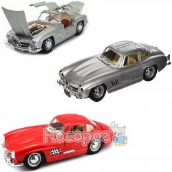 Автомодель - MERCEDES-BENZ 300 SL (1954) (ассорти красный, серебристый, 1:24) Bburago 18-22023
