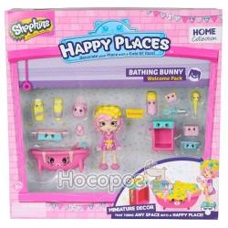 Игровой набор с куклой Happy Places S1 – Ванная комната Бабли Гам