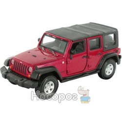 Авто-конструктор Bburago (1:32) Jeep Wrangler Unlimited Rubicon (18-45121) красный