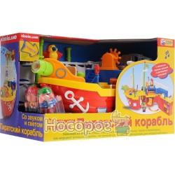 Игровой набор - ПИРАТСКИЙ КОРАБЛЬ (на колесах, свет, звук) Kiddieland - preschool 038075