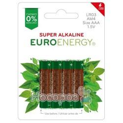 Батарейки Euroenergy Super Alkaline (LR03) (4 шт. в блистере)