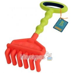 Игрушка для игры с песком - БОЛЬШИЕ ГРАБЕЛЬКИ (цвет красный-лаймовый) Battat BX1443Z