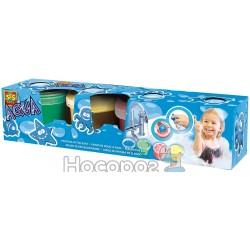 Набор для игры в ванной - ГУАШЬ СО ШТАМПАМИ 4 х 120 мл Ses 13035S
