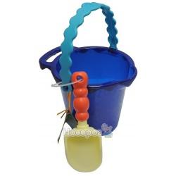 Набор для игры с песком и водой - ВЕДЕРЦЕ С ЛОПАТКОЙ (цвет океан) Battat BX1431Z