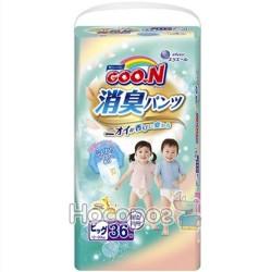 Трусики-підгузники для дітей Goo.N серії Aromagic Deo Pants (12-20 кг)