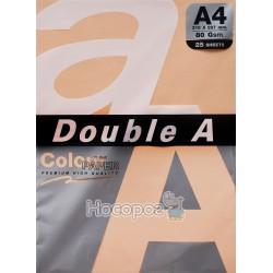 Бумага офисная цветная Double A А4 персиковый Р25