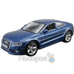 Автомодель Bburago Audi A5 (синий металлик, белый, 1:32)
