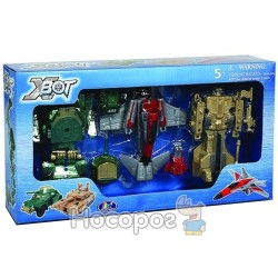 """Игровой набор X-Bot """"Робот-трансформер, 2 танка (зеленый и бежевый) и самолет"""""""