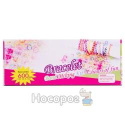 Набор резинок для плетения розовый Bracelet 6+ Bands