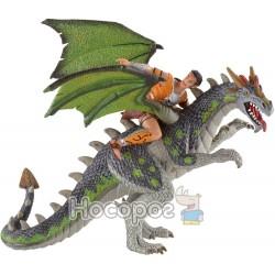 """Фигурка Bullyland """"Дракон с наездником"""" 75587"""