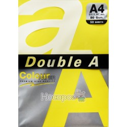 Бумага ксероксная цветная Double A А4 насичений жовтий Р50