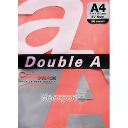 Бумага ксероксная цветная Double A А4 вишневая Р50