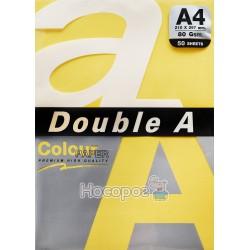 Бумага ксероксная цветная А4 Double A оранжевая Р50