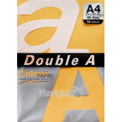 Бумага ксероксная цветная Double A А4 морковный Р50