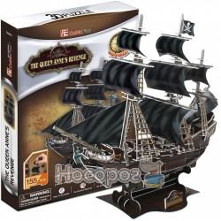 Конструктор CubicFun Корабль Месть Королевы Анны (T4005h)