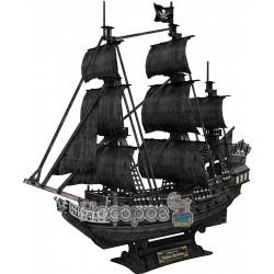 """Тривимірна головоломка-конструктор CubicFun """"Корабель Чорної Бороди """"Помста королеви Анни (великий)"""" Т4"""