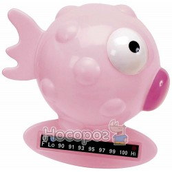 Игрушка-термометр для измерения температуры воды в ванне Chicco Рыбка розовая