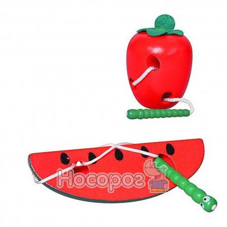 Деревянная игрушка Шнуровка MD 0363 (3 вида) (200)