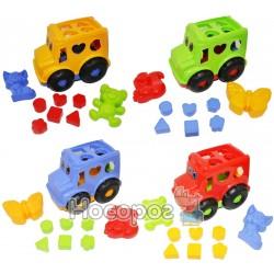 Детский набор игрушек: автобус с вкладышами, две паски большие