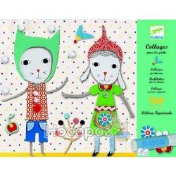 Художественный комплект DJECO Коллаж для самых маленьких Малыши DJ08665