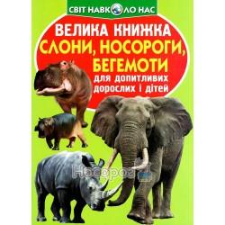 """Большая книга - Слоны, носороги, бегемоты """"БАО"""" (укр)"""