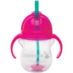 "Пляшка непроливна ""Tip & Sip"", 207мл.(рожева)"