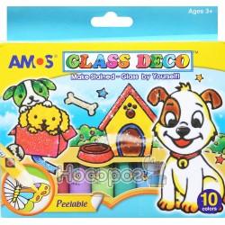 Набор для детского творчества Amos Glass Deco Щенки GD10P10