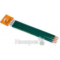 Набор карандашей чернографитных пластиковых HB с ластиком Eco-Eagle FRANCE