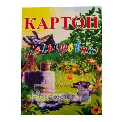 Картон цветной ВинОблДрук А4