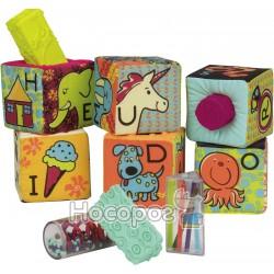 Развивающие мягкие кубики-сортеры ABC Battat BX1477Z