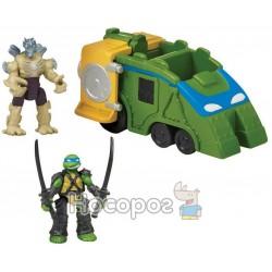 Игровой набор Леонардо и Шредер в фургоне TMNT серии ЧЕРЕПАШКИ НИНДЗЯ MICRO 87601