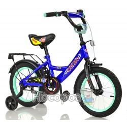 """Велосипед """"CORSO"""" С14900 2-х колісний, 14 дюймів, синій, ручний тормоз, дзвіночок, сидіння з ручк"""