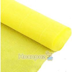 Крепированная бумага , 55% растяжимость , желтая