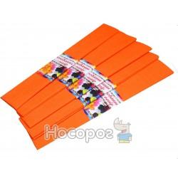 Крепированная бумага , 55% розтяжність, оранжевая