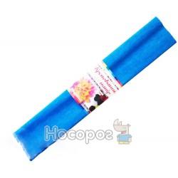 Крепированная бумага , 55% растяжимость , светло голубой