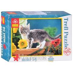 """Пазл """"Котёнок в цветах"""""""