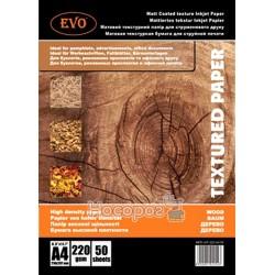 Фотобумага матовая двусторонняя EVO MPD-WT-220-A4/50 текстура деревл